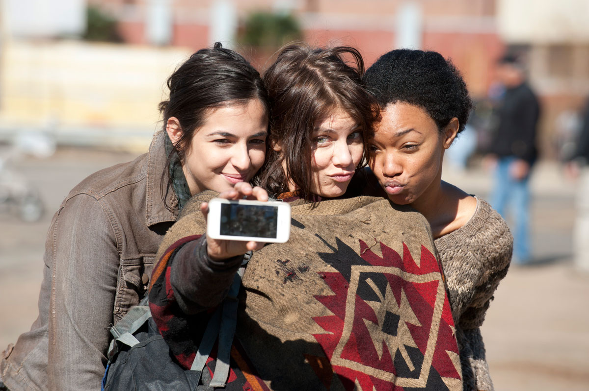 walking-dead-duckface-selfie